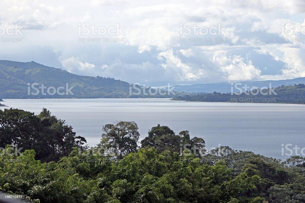 Arenal lake stock photo