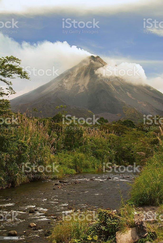 Arenal Volcano - Smoking stock photo