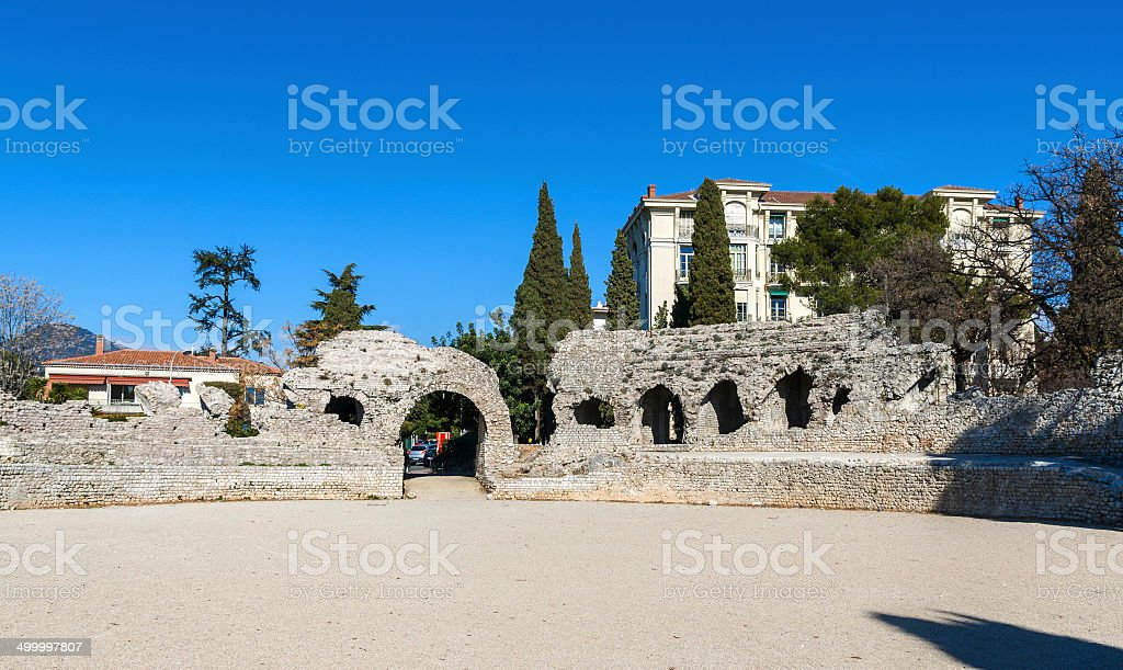 Arenes de Cimiez in Nice, French Riviera stock photo