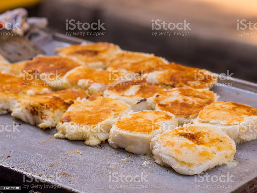 Arepas from Cartagena in Colombia stock photo