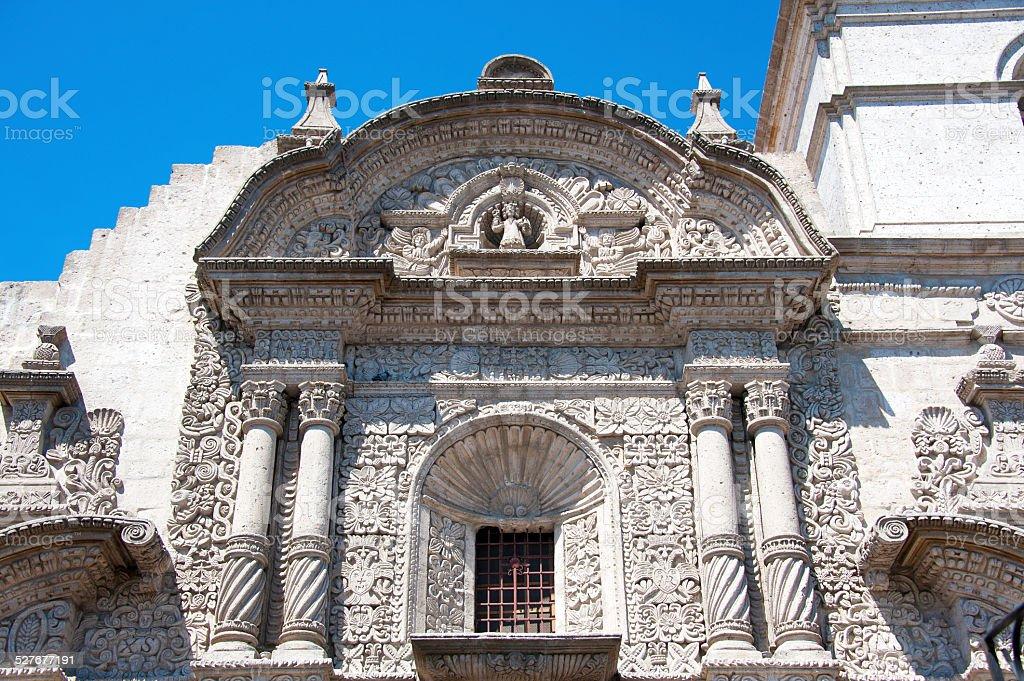 Arequipa, Jesuit Church. stock photo