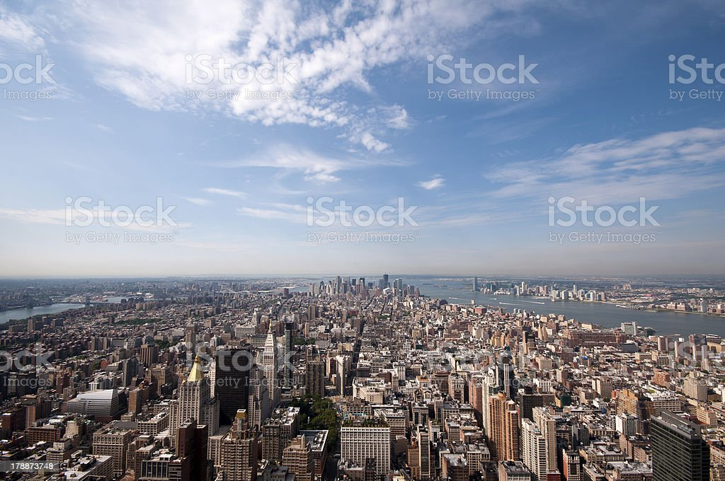 Arerial view of Manhattan stock photo