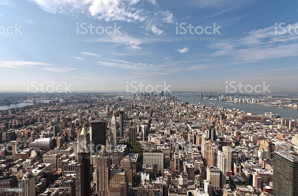 Arerial view of Manhattan royalty-free stock photo