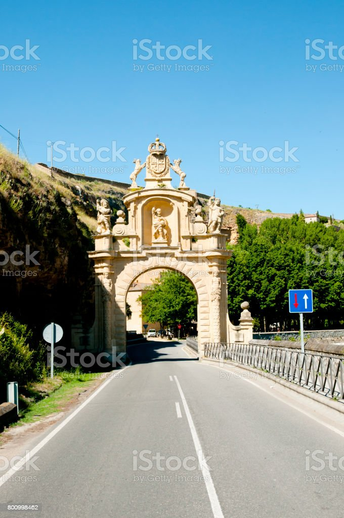 Arevalo Gate - Segovia - Spain stock photo