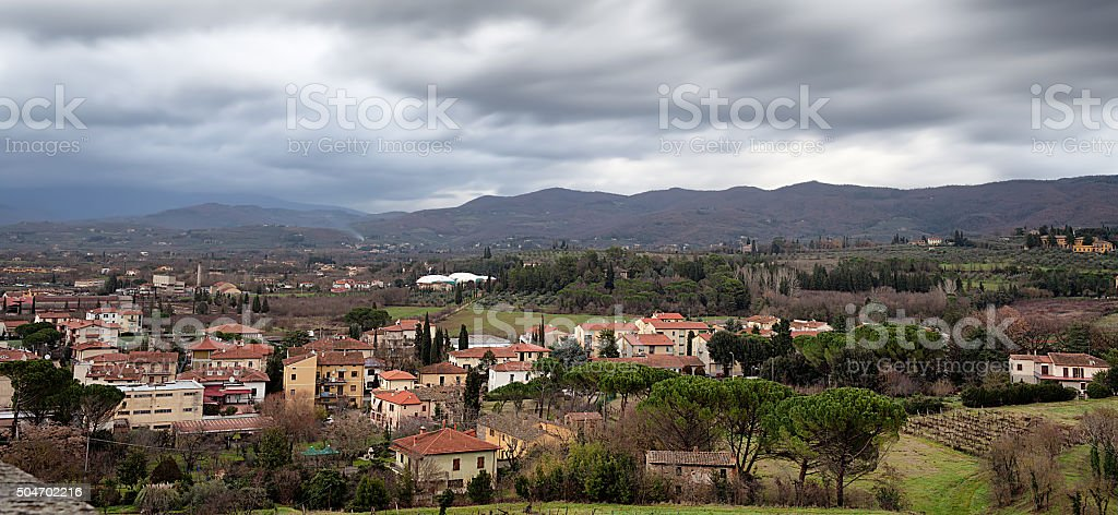 Arezzo From Above stock photo