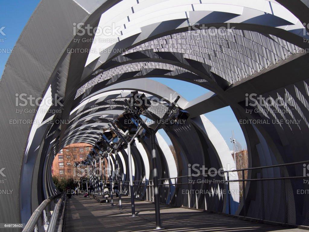 Arganzuela bridge in Madrid stock photo
