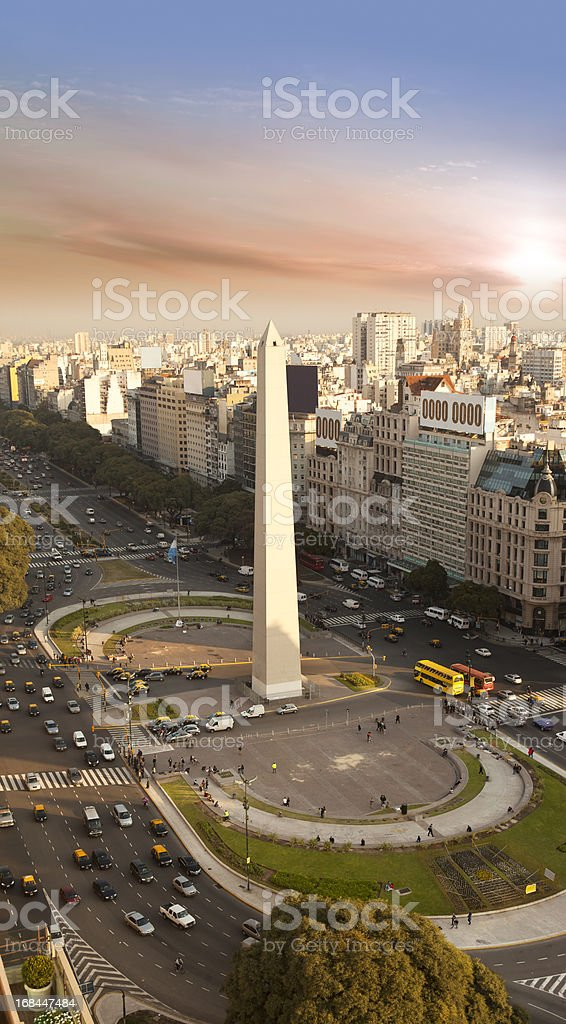 Argentina Buenos Aires aerial view with Obelisco stock photo