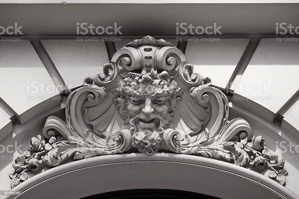Argentina Buenos Aires head of an old man at building royalty-free stock photo