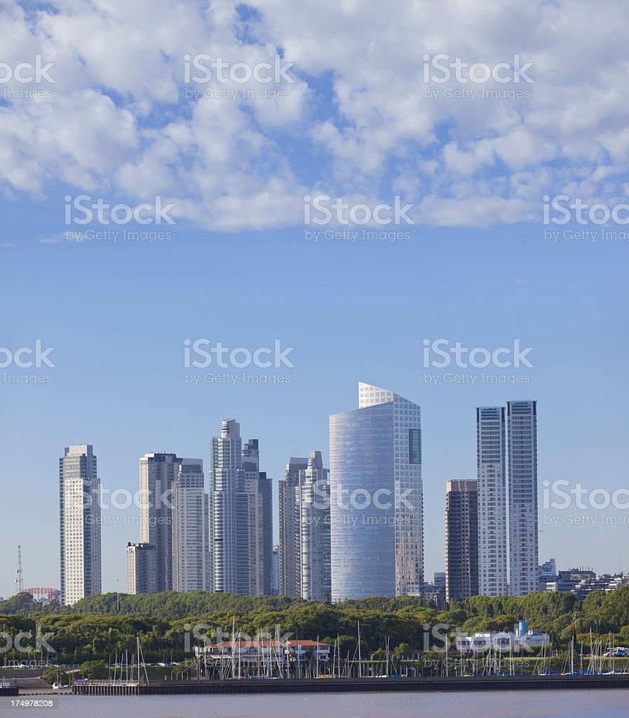 Argentina Buenos Aires office buildings at Puerto Madero royalty-free stock photo