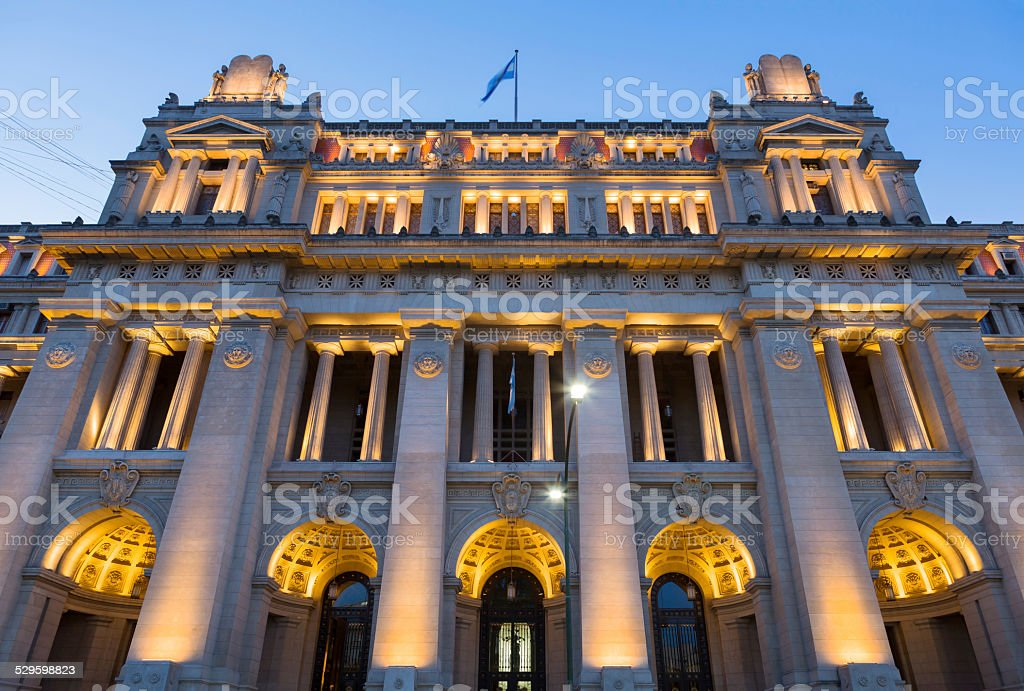 Argentina Buenos Aires Palace of Justice Tribunales stock photo