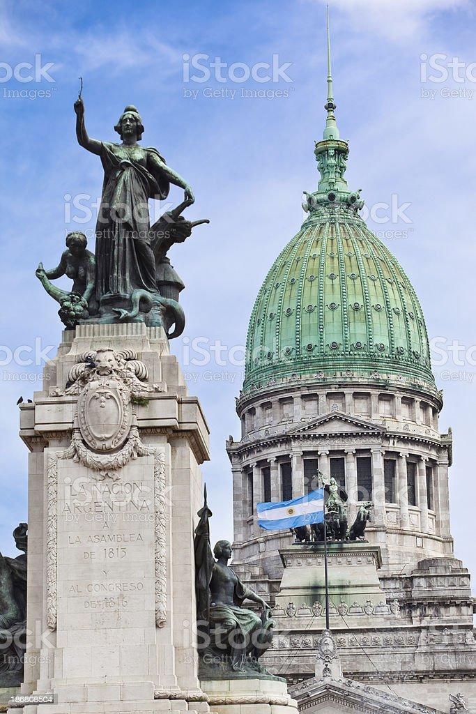 Argentina Buenos Aires Palacio Del Congreso stock photo