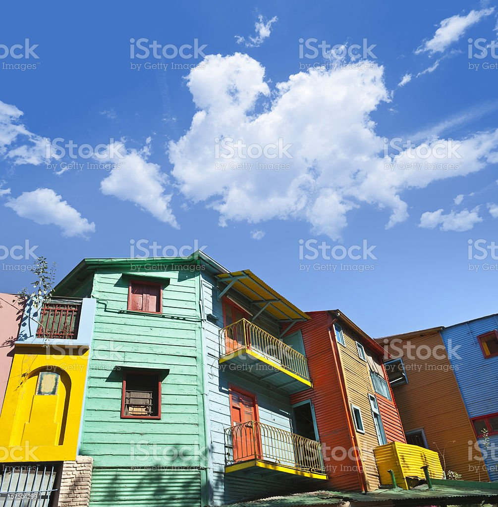 Argentina colourful houses in Buenos Aires La Boca stock photo