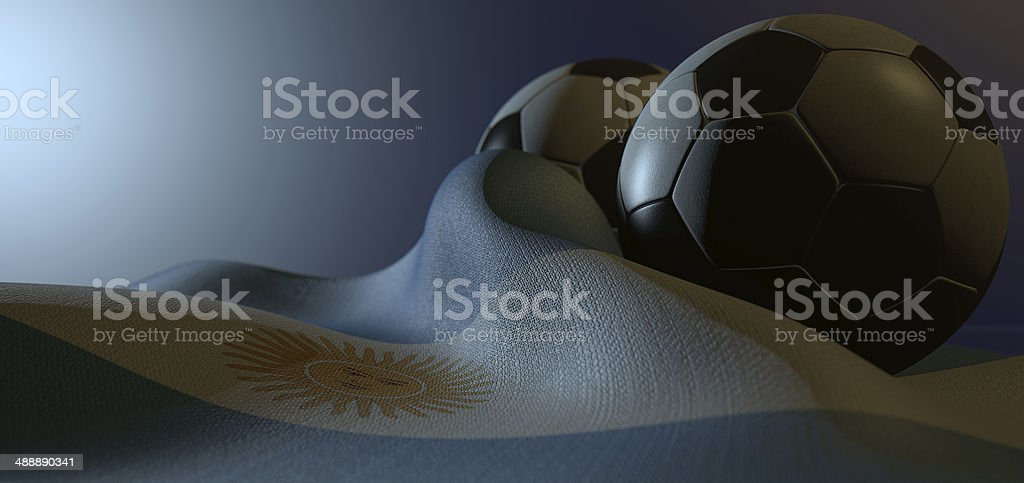 Argentina Flag And Soccer Ball stock photo