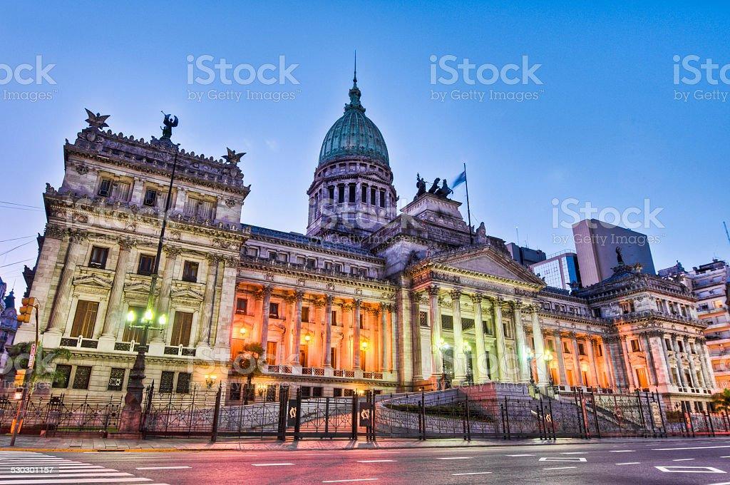 Argentina National Congress building. stock photo