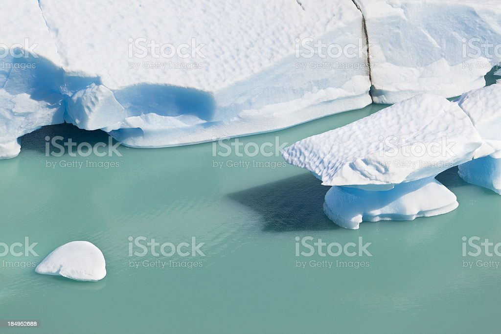 Argentina Patagonia ice floes at Glacier Perito Moreno stock photo