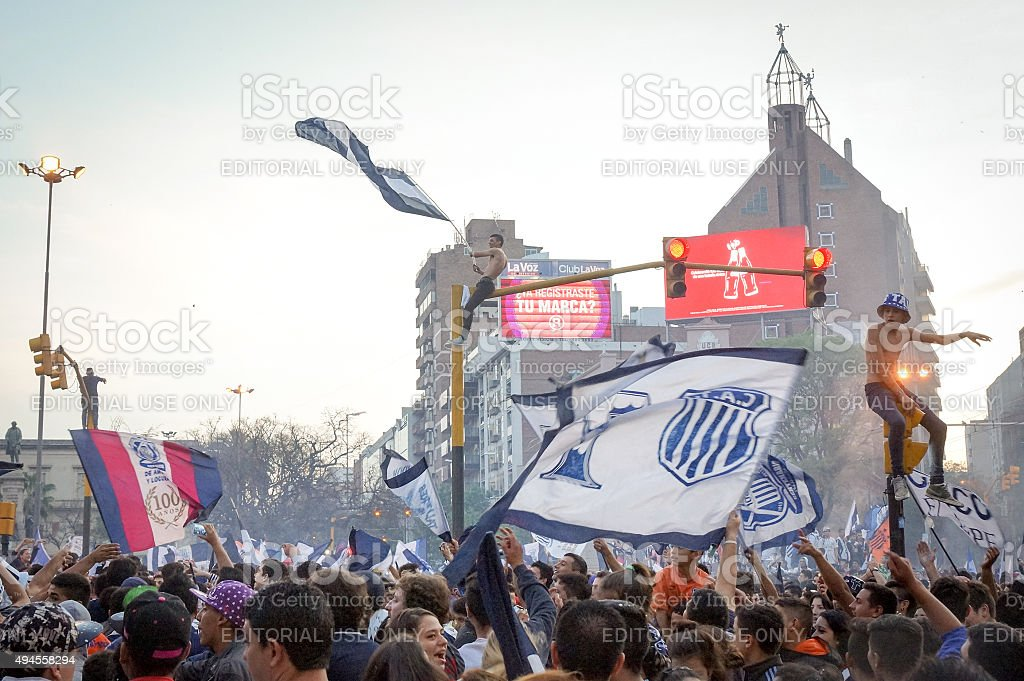 Argentina: Thousands celebrate Talleres de Cordoba football victory stock photo