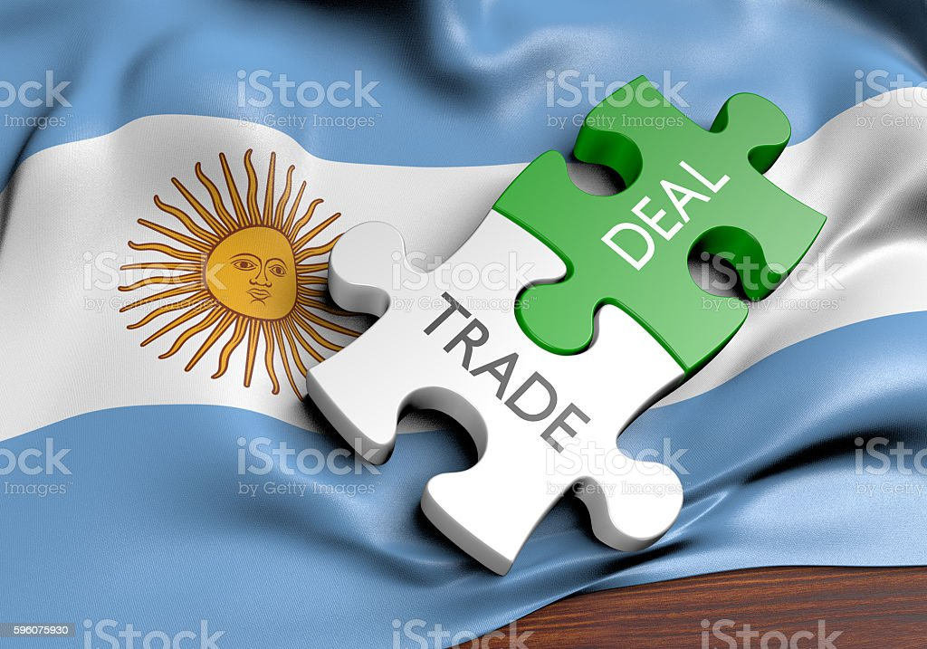 Argentina trade deals and international commerce concept, 3D rendering stock photo