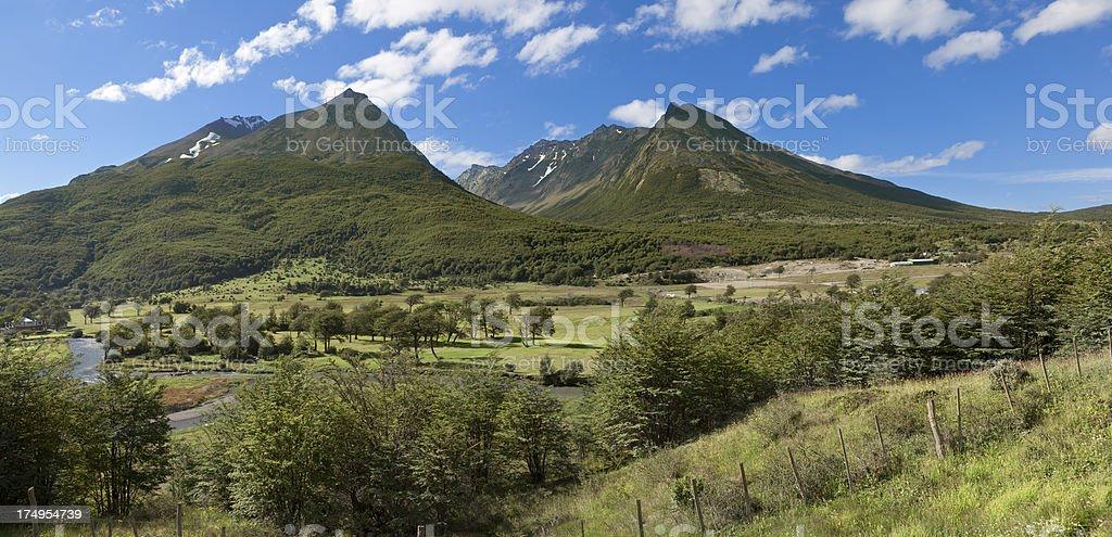 Argentina Ushuaia National Park panorama royalty-free stock photo