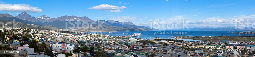 Argentina Ushuaia panorama royalty-free stock photo