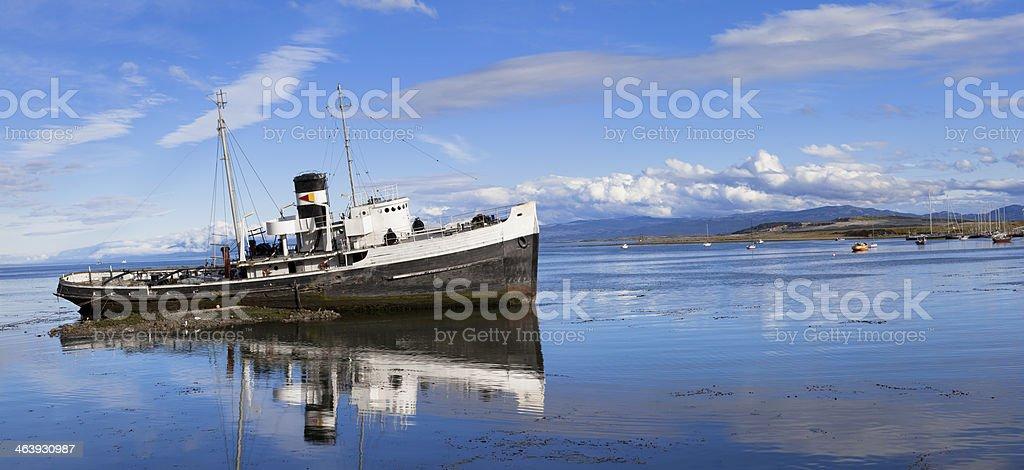 Argentina Ushuaia stranded vessel royalty-free stock photo