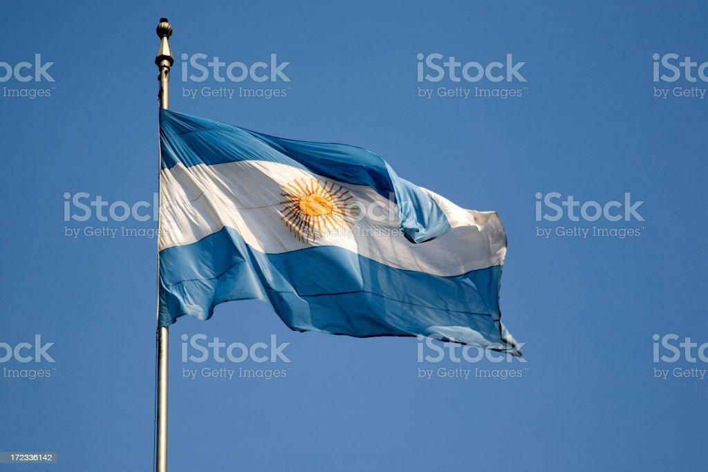 Argentinan Flag royalty-free stock photo