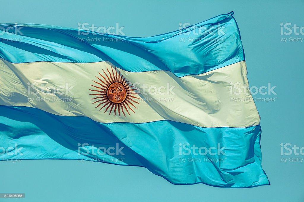 Argentina's flag stock photo