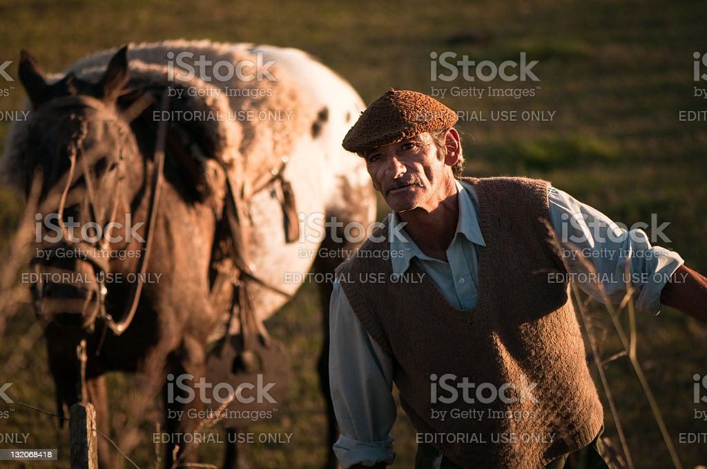 Argentina's Gaucho royalty-free stock photo