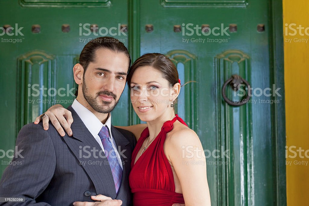 Argentine couple tango in Buenos Aires royalty-free stock photo
