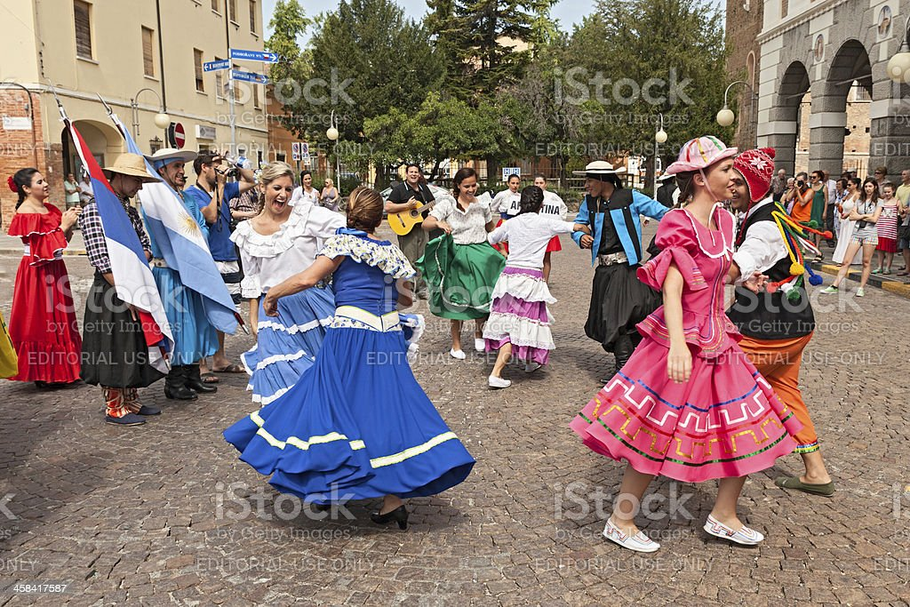 Argentine dancers stock photo