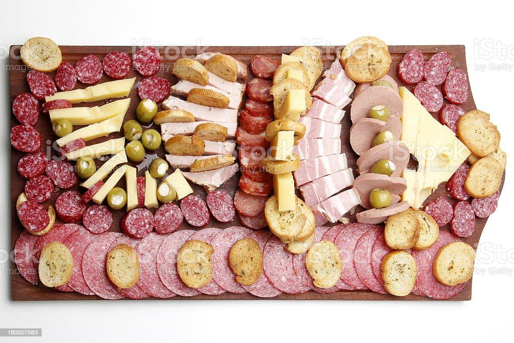Argentine deli table (picada) royalty-free stock photo