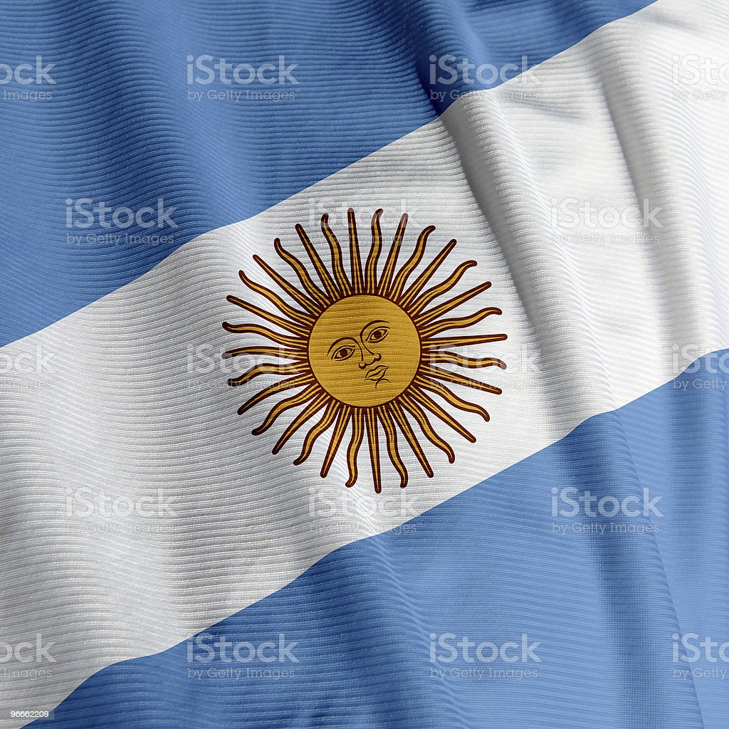 Argentine Flag Closeup royalty-free stock photo
