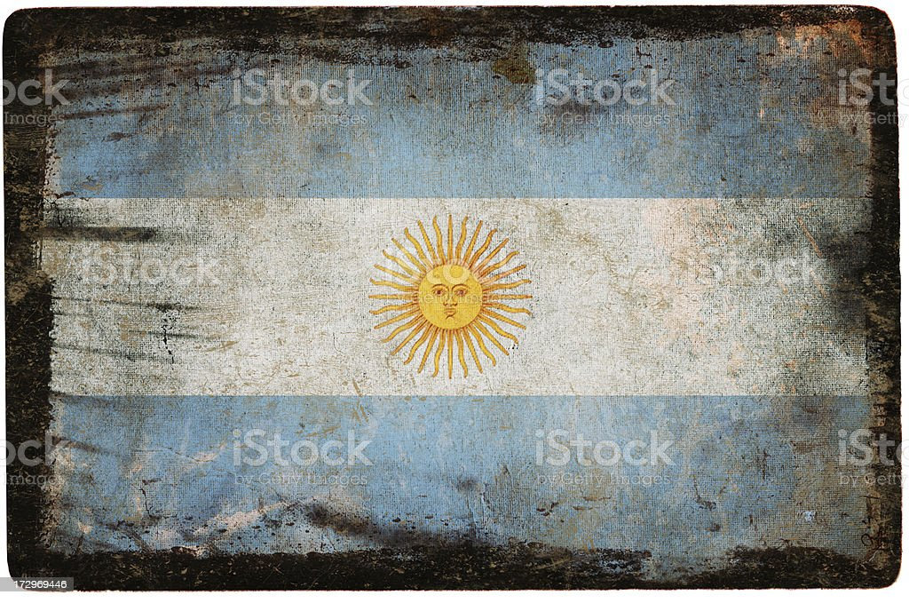 Argentine flag royalty-free stock photo