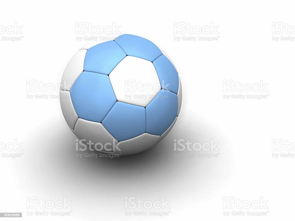 Argentine soccer ball stock photo