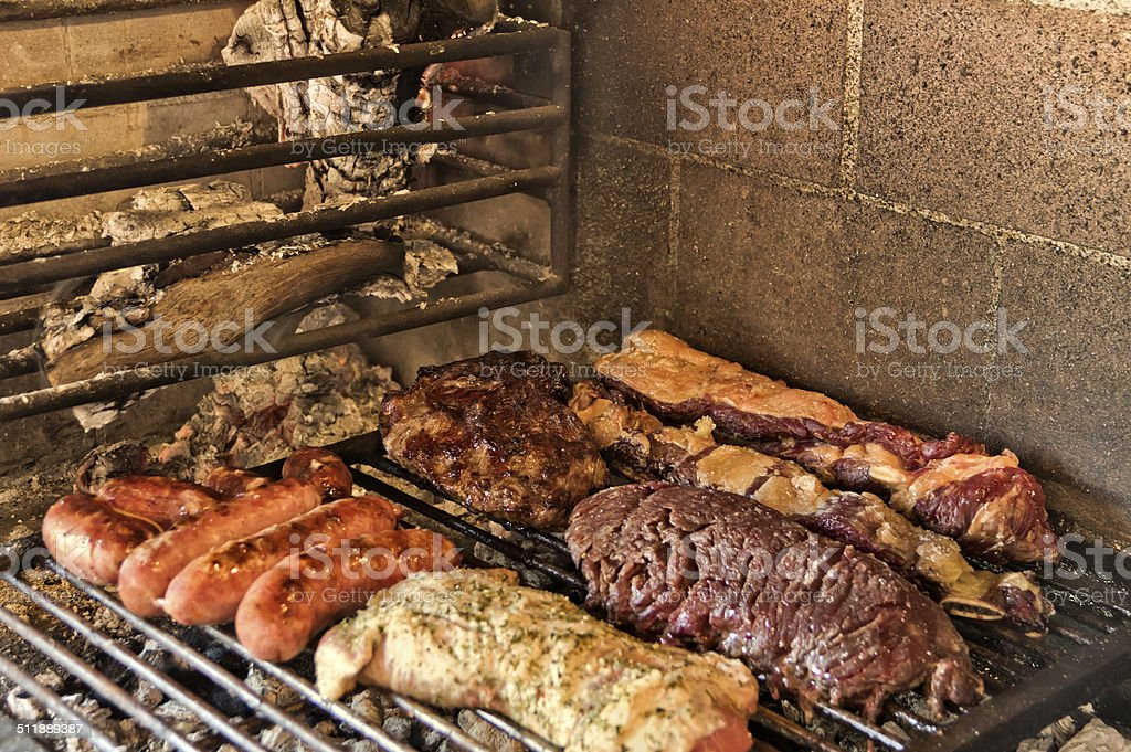 Argentinian barbecue stock photo