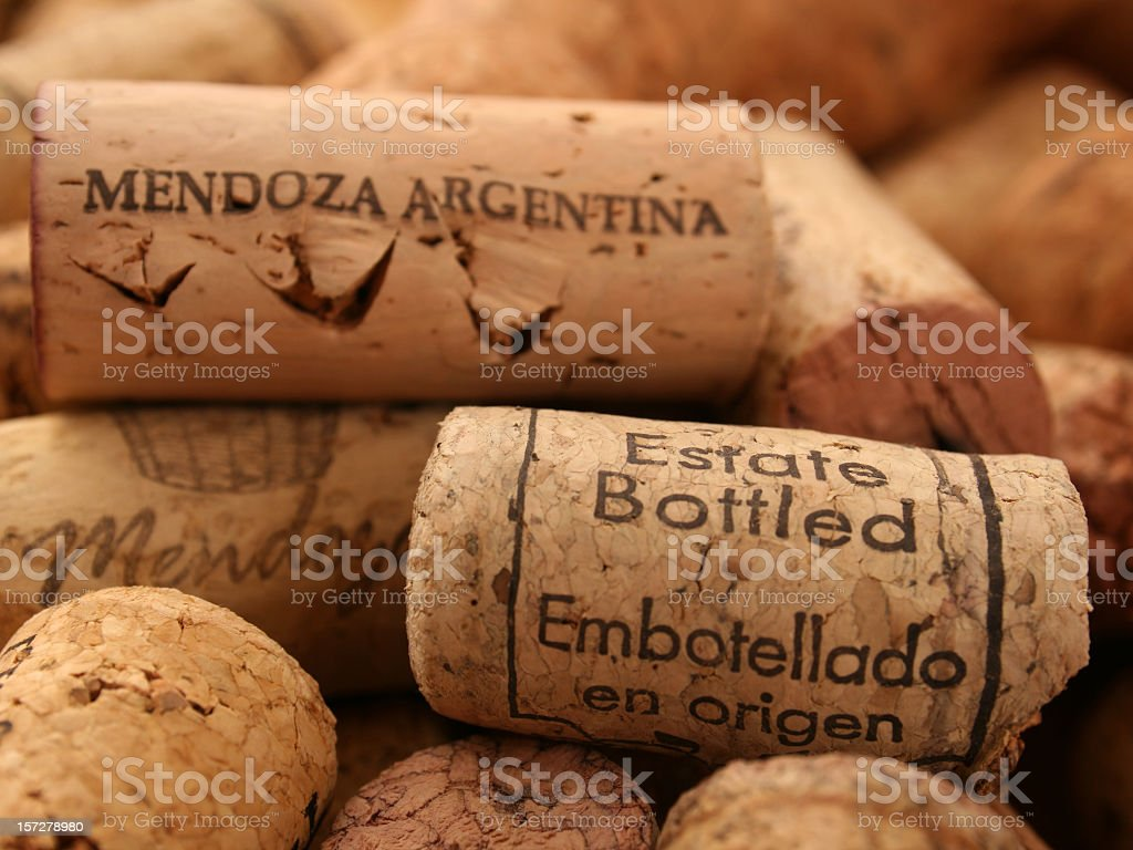 Argentinian corks royalty-free stock photo