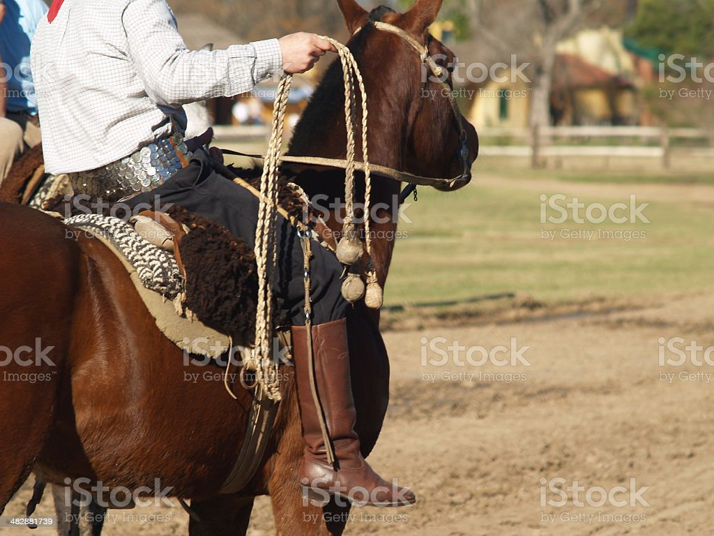 Argentinian cowboy (Gaucho) royalty-free stock photo