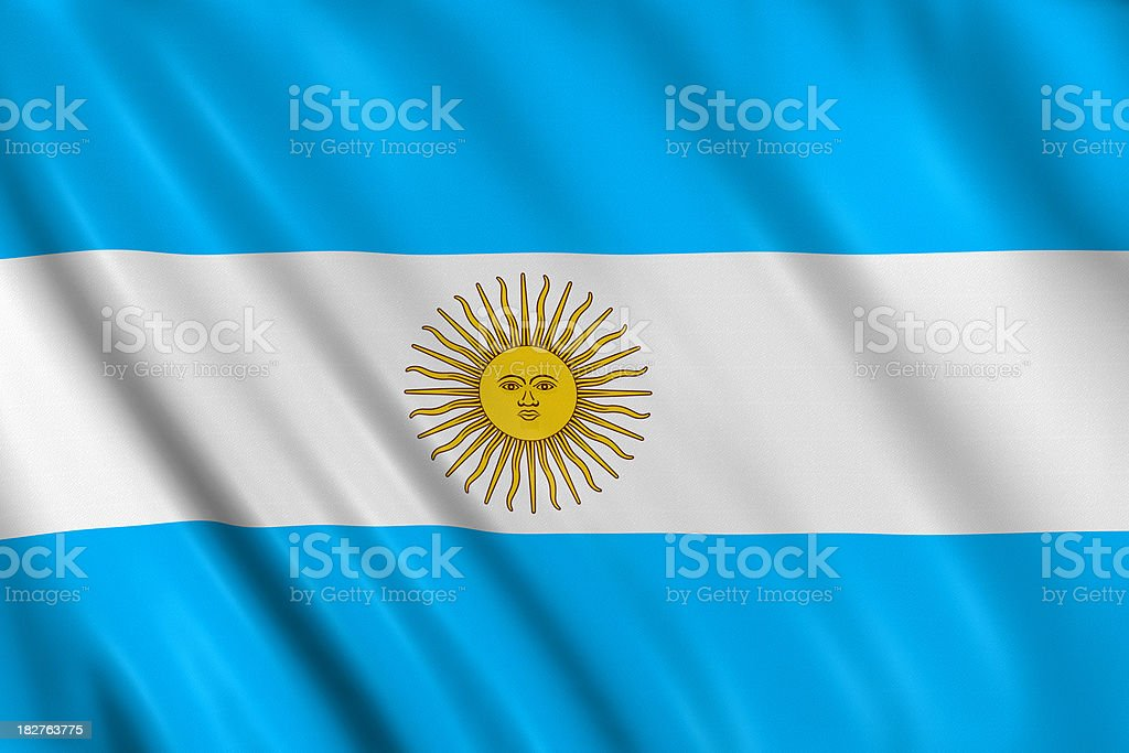 argentinian flag stock photo