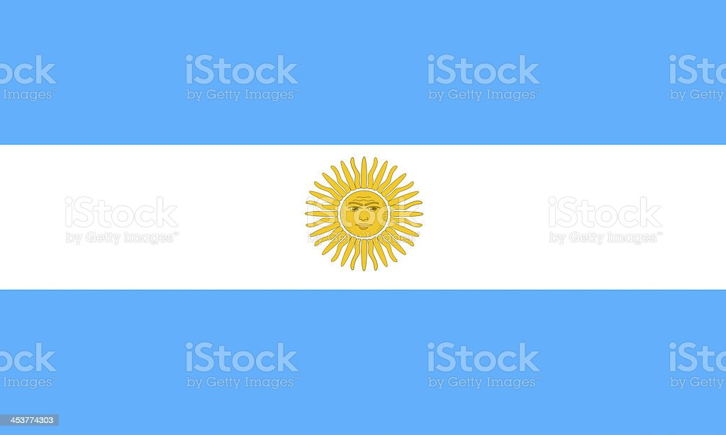 argentinian flag vector art illustration