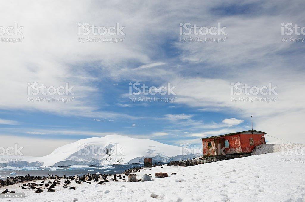 Argentinian hut stock photo
