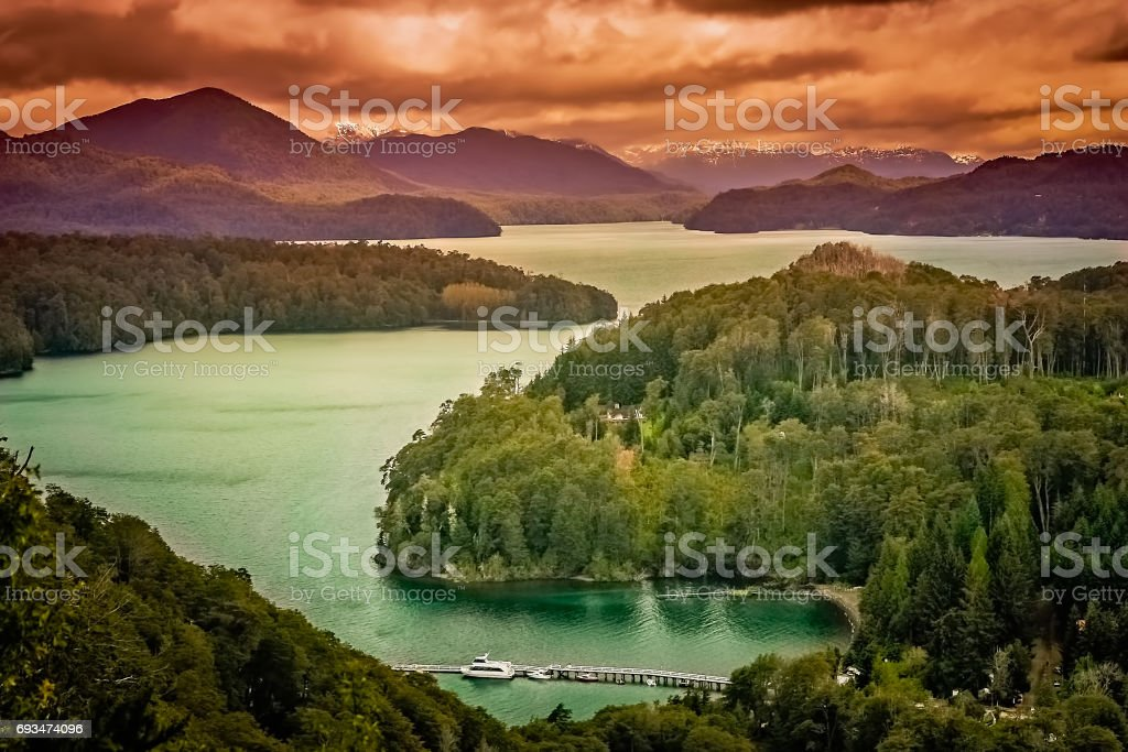 Argentinian Lake District stock photo