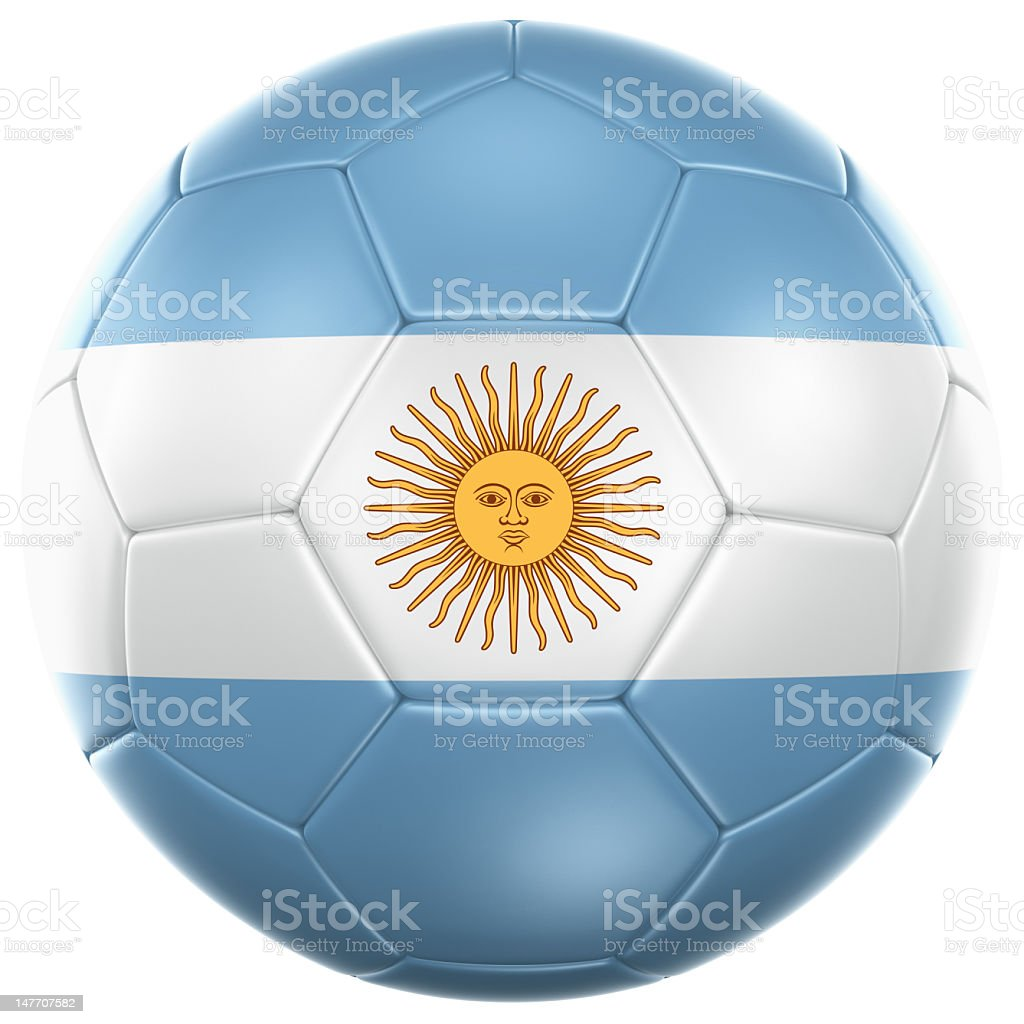 Argentinian soccer ball royalty-free stock photo