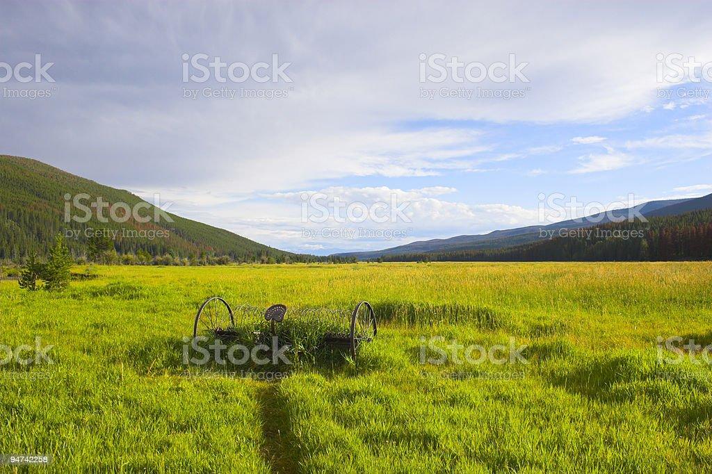 Argicultural farmscape royalty-free stock photo
