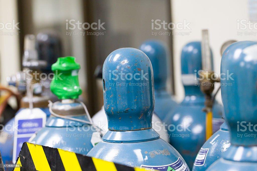 Argon tanks stock photo