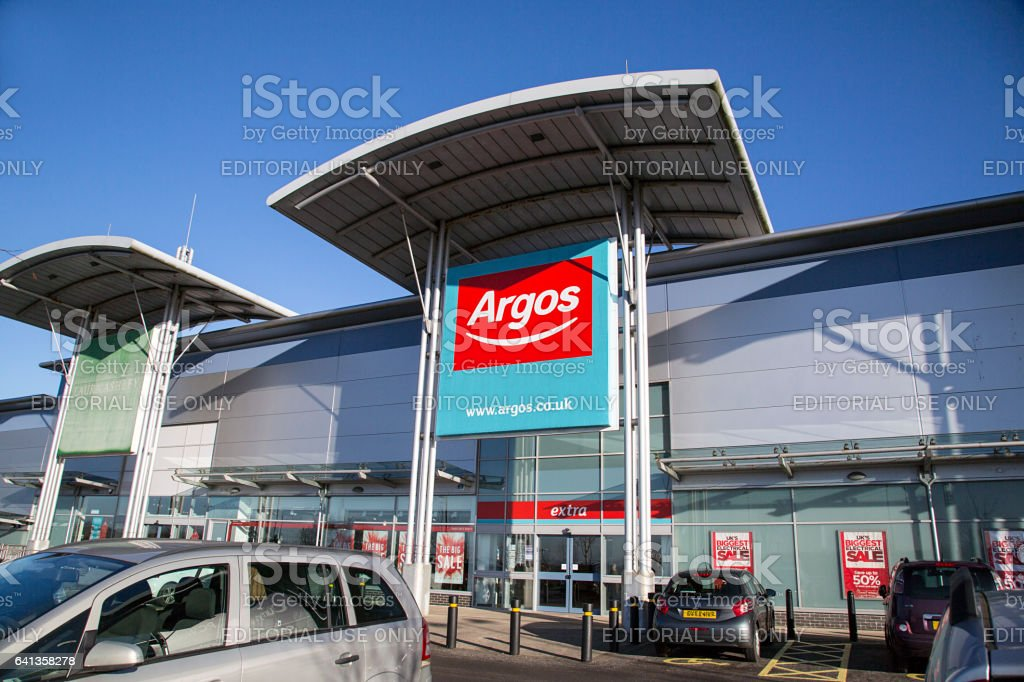 Argos store front in a small retail park in Swansea. stock photo