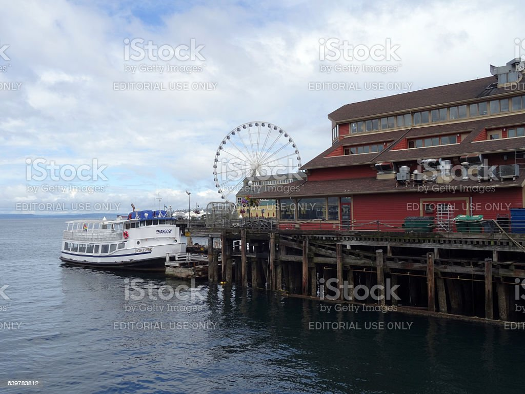 SEATTLE - JUNE 24, 2016: Argosy Boat parked at the stock photo