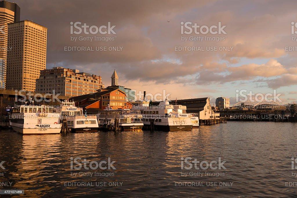 Argosy Pier 55 stock photo