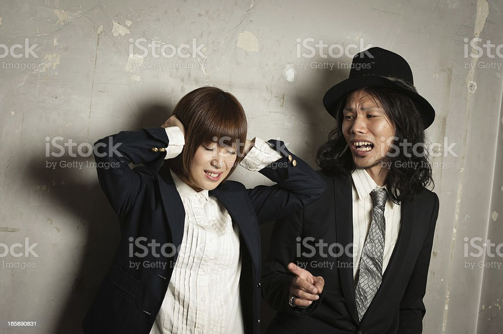 Arguing Asian Couple royalty-free stock photo