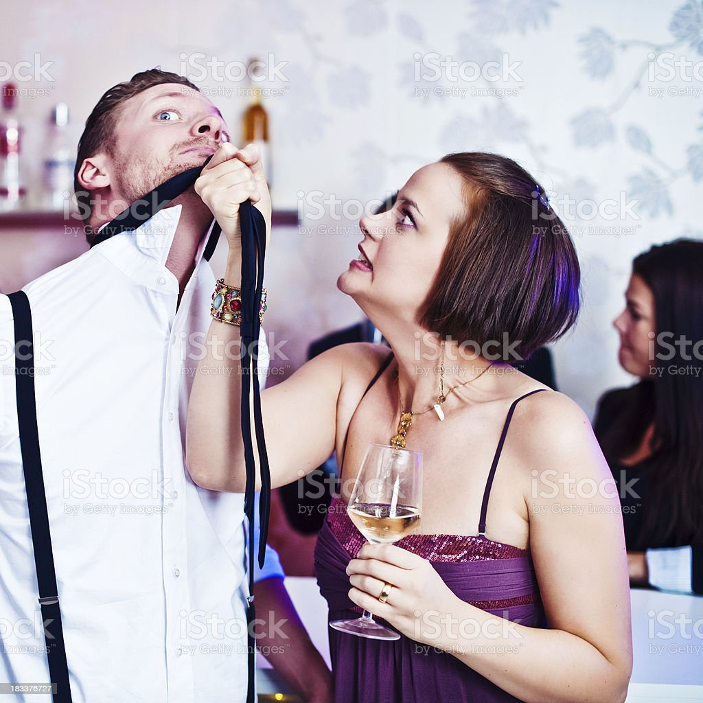 Arguing at a party royalty-free stock photo