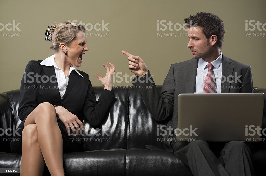 Arguing business people royalty-free stock photo
