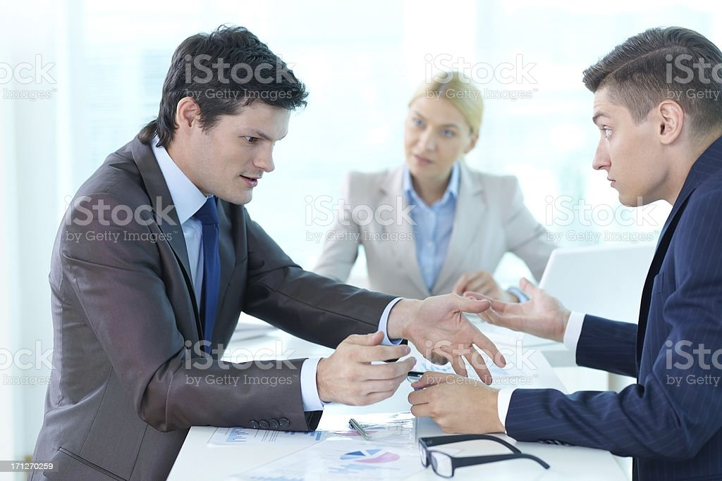 Arguing colleagues royalty-free stock photo